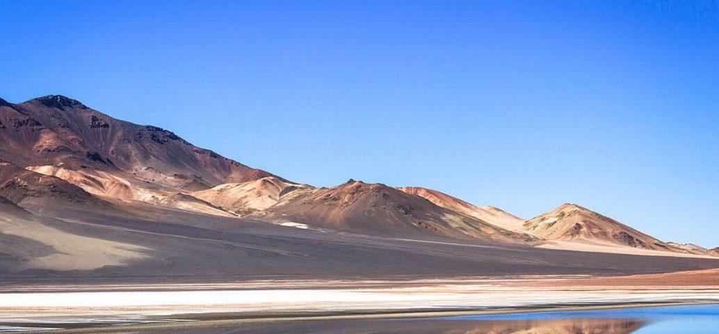 Paisaje desértico en el norte de Chile